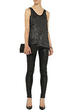 DVF DIANE VON FURSTENBERG 'FRAN CUPPED SEQUINS' TOP *SMALL/UK 10* BNWT *RRP £290