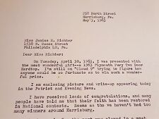 Free Chrysler Plymouth Fury 1963 Thank You Letters Carbon Copy Harrisburg PA