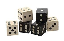 """Mango Wood Decorative Dice, Set of 6 in Bag, 2"""" Square Each, by Creative Co-Op"""