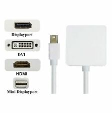 Mini Display Port Thunderbolt to DVI DP HDMI Adapter for MacBook Air Pro Mac