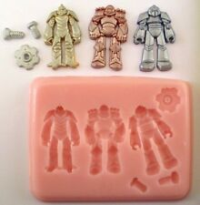 ROBOTS TRANSFORMERS SILICONE MOULD FOR CAKE TOPPERS, CHOCOLATE, CLAY ETC