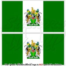 "RHODESIA Rhodesian Flag 1968-1979 Vinyl Decals, Bumper Stickers 110mm (4.3"") x2"