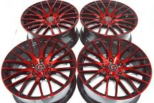17 Drift red Wheels Rims Fusion Civic Mazda 3 5 6 Protege Eclipse Sonata 5x114.3
