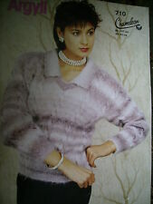 LADIES SWEATER WITH COLLAR KNITTING PATTERN  *MOHAIR KNITTING*