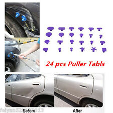 Car Paintless Dent Repair Hail Removal 24pcs Purple Glue Puller Tabs PDR Tools