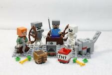 LEGO 21121 Minecraft Desert Outpost Minifigures Lot  ALEX WOLF STEVE SKELETON