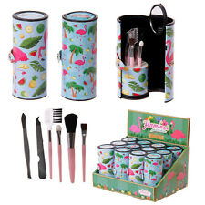 Compact Make Up Brushes And Utensils Set in Flamingo Design novelty gift