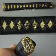 Gold Genuine Rayskin Tsuka Brass Kashira/Fuchi/Menuki Katana Sword Handle