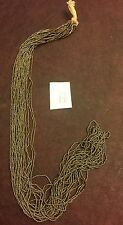 Vintage Rare Rustic France Petite French Cut Steel 12 Extra Long Hank Bead Lot A