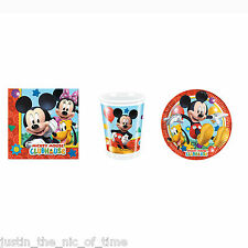 Disney Mickey Mouse Clubhouse Boys Party STARTER PACK Plates Cups Napkins For 8