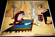 "Warner Brothers Bugs Bunny Tasmanian Devil Cel ""LOOK! NO MEAT Special Proof cell"