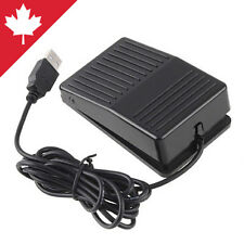 PC Foot Pedal Action Switch Game Keyboard Control Dictation USB Port Brand New