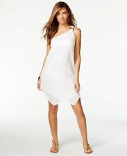 NWT Michael Kors Swimsuit Cover Up Dress Tunic Sz L Gauze One-shoulder Layered