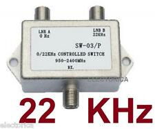 NEW 22KHZ 2X1 SATELLITE LNB MULTI-SWITCH FTA 22 Khz TONE / 22K BURST SW22  HD