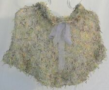 Luxe Handknit Paper & Kid Mohair On Trend Capelet