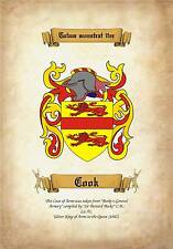 Family coat of arms  A4 260gms Photographic paper