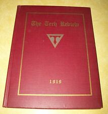 1919 TECH REVIEW BOOK TECHNICAL HIGH SCHOOL PROVIDENCE RHODE ISLAND ADVERTISING