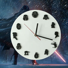 For Star Wars Fans! Handmade Star Wars Iconic Sci-Fi Mini Timepieces Wall Clock