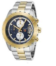 New Legend Primo Chronograph Watch 1000-SG-03 Gold Two Tone Stainless Steel