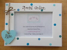 Personalised Wooden Special Godson Christening Photo Frame Gift QUICK POSTAGE