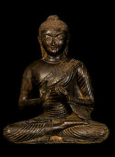 19th Century Antique Sri Lanka Teaching Buddha Statue - 26cm/10""