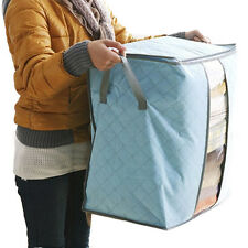 Storage Box Tragbar Organizer Non Woven Clothing Pouch Holder Blanket Pillow DE