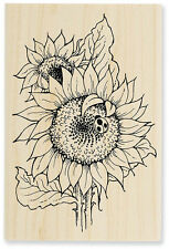 SUNFLOWER LADYBUG Rubber Stamp P024 Stampendous! Brand NEW! floral flowers