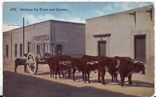 Mexico Ox Team and Carreta Cover to Decatur IL USA postcard