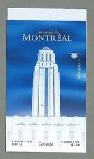 CANADA 2003 Booklet - UNIVERSITY of MONTREAL - 8 @ 48c. - Complete - MNH