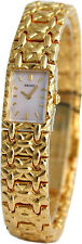SEIKO DRESS PINK MOP DIAL GOLD-TONE STAINLESS STEEL WOMEN'S WATCH SYL792 NEW