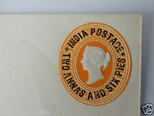 INDIA POSTAGE TWO ANNAS + SIX PIES STATIONERY ENVELOPE F39686/38