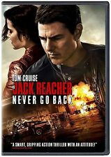 NEW - Jack Reacher 2 Never Go Back (DVD 2016)* Action, Drama* SHIPPING TODAY !