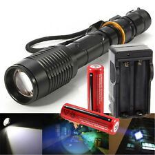 5000Lumen Zoomable LED Flashlight Torch 5Mode Rechargeable 18650 Battery Charger