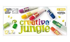 Tempera-Farben-Set - Creative Jungle 12x 7ml Tuben inklusive Ausmalbild