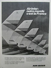 1981 PUB COMPAGNIE AIR INTER AIRLINE AIRLINER TAIL 22 ORIGINAL FRENCH AD
