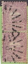 (XS23) 1888 NSW 1d violet vertical pair used in QLD (B)
