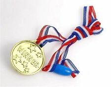 50x Children Gold Plastic Winners Medals,Sports Day,Party Bag,Prize Awards,Toys