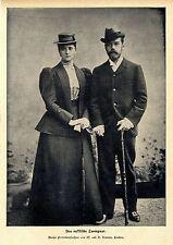 Das russische Zarenpaar * Neueste Aufnahme  W. u. D. Downey * Bilddokument 1900