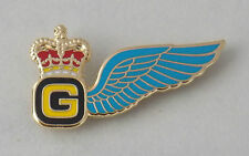 AIR GUNNERS BREVET WING LAPEL BADGE ARMY AIR CORPS 25MM WIDE W/2 PINS AAC UK