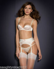 AGENT PROVOCATEUR CREAM ABBEY BRA 36D/E & SIZE 3 SUSPENDER+ SIZE 4 BRIEF NWT
