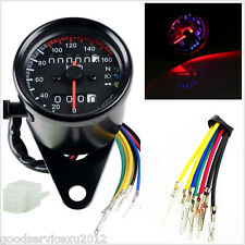 12V Round Type Motorcycle ATV LED Backlight Dual Odometer KMH Speedometer Gauge