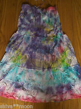 TIE DYE HIPPY HIPPIE BOHO GYPSY SKIRT WOW AMAZING RAINBOW 903a