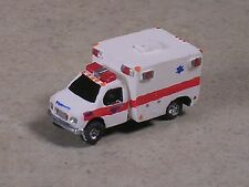 N Scale 2012 White with Red Stripe Ford Ambulance