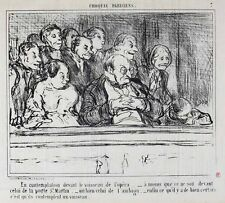 Honore Daumier France 1808-1879 Lithograph Croquis Parisiens No 7
