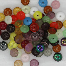 Czech Glass Wafer Disc Rondel 6mm wide Bead Mix Assorted Colors & Finishes