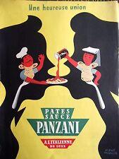 publicité de presse  Pates PANZANI   en 1953 ref. 33356