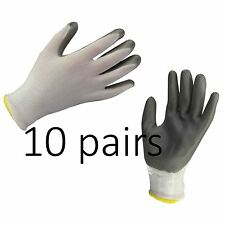 10 x NITRILE COATED WORK GLOVES CONSTRUCTION GARDENING BUILDERS DIY HOME Size XL
