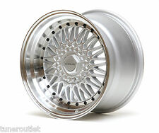"ULTRALITE RS 17"" x 10J ET20 5x100 4x100 SILVER BLACK STUD BBS ALLOY WHEELS Y2964"