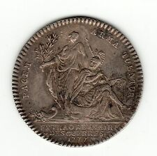 French Colonial nice 1777 silver jeton ''Extraordinaire des guerres''