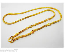 Men's Chain 5 Hoops 24K THAI BAHT YELLOW GOLD GP NECKLACE 26 INCH  Jewellery
